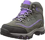 HI-TEC Women's Skamania Waterproof-W Hiking Boot, Grey/Viola, 9.5 W US