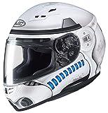 HJC Star Wars Unisex-Adult CS-R3 Storm Trooper Motorcycle Full Face Helmet (White, Large)