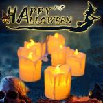 LED-Flameless-Votive-CandlesHalloween-Decoration-CandlePack-of-12Battery-Operated-Fake-Candles-RealisticTear-Drop-Votive-Candles-for-Day-of-The-Dead-Decorations