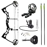 Leader Accessories Compound Bow Hunting Bow 50-70lbs with Max Speed 310fps (Black with Kit)