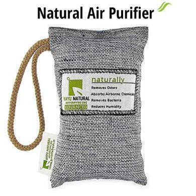 BreatheFresh Vayu Natural Air Purifying Bag, 100% Activated Charcoal. Odour, Allergens and Pollutants Remover 25