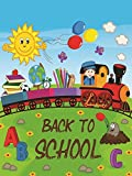 ShineSnow Garden Flags 12 x 18 Double Sided, Back to School Garden Yard Flag, Sunshine Train Books Lawn Flowers Boy Balloon School Days House Flag for Welcome Back Home Decorations