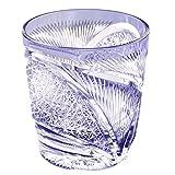 Edo Kiriko Crystal Double Old Fashioned Glass, 8.4oz Cut Glass Hisho Skyward - Violet [Japanese Crafts Sakura]