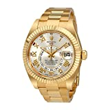 Rolex Sky Dweller Silver Dial 18 Carat Yellow Gold Oyster Mens Watch 326938SRO