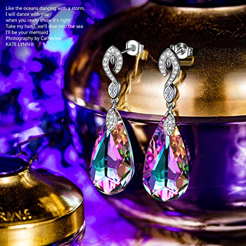 1382b5c5d Kate Lynn Swarovski Crystals Waterdrop Earrings Jewelry Gifts for Women  (with Beautiful Gift Box)