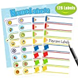 Baby Bottle Labels,Waterproof Stickers, Write-On Self-Laminating Name Labels for Daycare,School,Travel 128 Labels