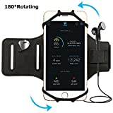 Simptech Running Phone Forearm Armband for iPhone X/8/7/6/6S Plus, Galaxy S8/S7/S7 Edge,180°Rotatable Design Ideal for Workout Jogging Hiking Biking