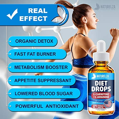 Weight Loss Drops - Made in USA - Best Diet Drops for Fat Loss - Effective Appetite Suppressant & Metabolism Booster - 100% Natural, Safe & Proven Ingredients - Non GMO Fat Burner - Garcinia Cambogia 4