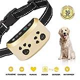 [2019 Upgrade Version]Dog Bark Collar-7Adjustable Sensitivity and Intensity Levels-Dual Anti-Barking Modes-Rechargeable-Rainproof-No Barking Control Dog shock Collar for Small,Medium,LargeDogs (Gold)