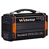 Webetop Portable Generator Inverter Battery 222WH 60000mAh Camping Emergency Home Use Power Source Charged by Solar Panel