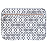 Targus Arts Edition for 15.6-Inch Laptop Protective Sleeve - Geometric, Gray/White (TSS99905GL)