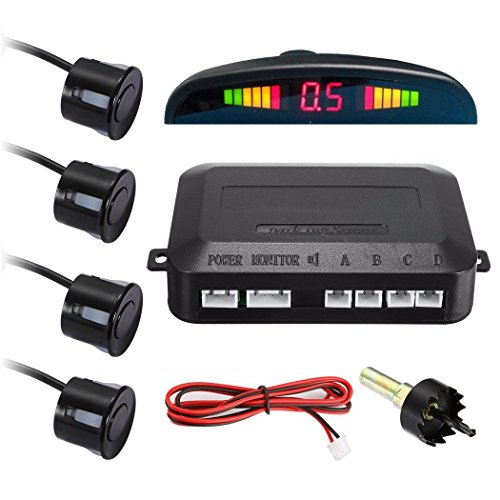 XD-066 LED Display Car Reverse Backup Radar with 4 Parking Sensors
