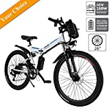 Aceshin 26'' Electric Folding Mountain Bike with Removable Large Capacity Lithium-Ion Battery (36V 250W), Electric Bike 21 Speed Gear and Three Working Modes(US Stock)