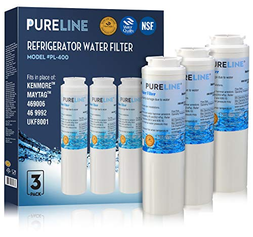 Compatible Maytag UKF8001 PUR Refrigerator Water Filter Replacement  Also fits UKF8001AXX, EDR4RXD1, 4396395, Puriclean II, Kenmore 46-9006 By Pure Line (3 Pack)