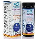 Comprehensive 14-in-1 Urine Test Strips 100ct | Urinalysis Dip-Stick Testing Kit | Ketone, pH, Blood, UTI, Protein | Keto Alkaline Diet, Ketosis, Kidney Infection & Liver Function | Free e-Book Inside