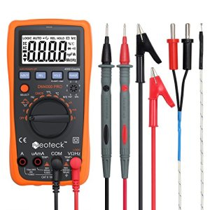 Neoteck Digital Multimeter AC/DC Volt Current Resistance Multitester with Capacitance and Temperature Measurement for School Factory and other Social Fields