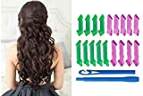 Fully Hair Curler For Women Hair Roller Curler Curling Hair Clips Non Heat Hair Curler For Girls Perfect For Make Party Look Hair Style At Home Set Of 18 Pcs Spiral Hair Curler Rollers Multicolor 10 Gram Pack Of 1