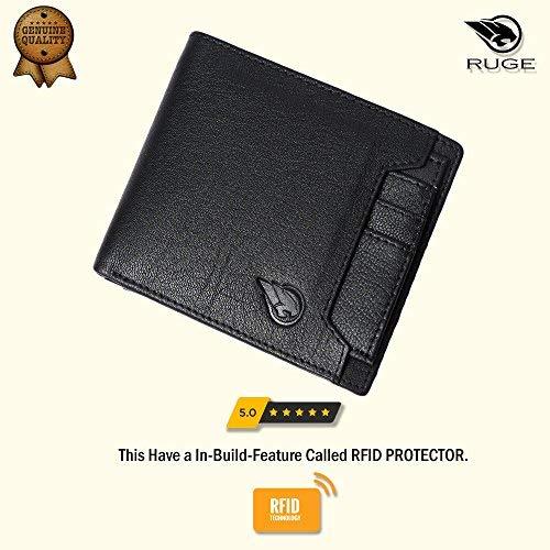 Ruge Genuine Leather RFID Blocking Men's Wallet - Antique Brown 6