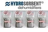 4 - Silica Gel - Hydrosorbent Dehumidifiers 40 Gram Canisters Desiccant Dehumidifying Drying Unit
