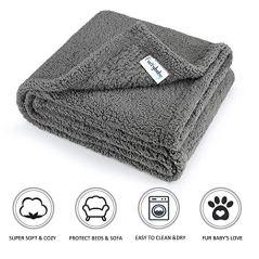 Furrybaby-Premium-Fluffy-Fleece-Dog-Blanket-Soft-and-Warm-Pet-Throw-for-Dogs-Cats-Medium-32x40-Grey