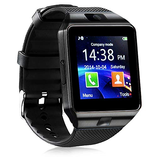 Smart Watch - 321OU Bluetooth Smart Watch Fitness Tracker Touchscreen iOS Android Compatible with Camera Pedometer Sleep Monitor Call/Message Music for Men Women Kids (Black)