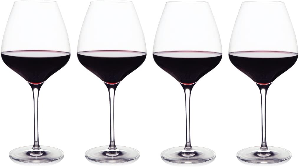 Amazon Com The One Wine Glass Perfectly Designed Shaped Red Wine Glasses For All Types Of Red Wine By Master Sommelier Andrea Robinson Premium Set Of 4 Lead Free Crystal Glasses