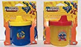DC Superfriends Superman and Batman Handle Sippy Cups (Set of 2)