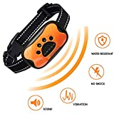 MONTAUR Dog Bark Collar - no Shock Vibration and Sound Stop Barking Collar for Dogs - 7 Level Sensitivities Anti Bark Collar - Humane Dog Barking Control Collar - 100% Waterproof no Bark Collar