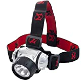 MhIL LED Hands-Free Headlamp (R) Battery Powered Flashlight/Headlight Great for Camping, Hiking, Working in The Dark, Using Without Hands Adjustable 3-Way Light & Adjustable Head Strap