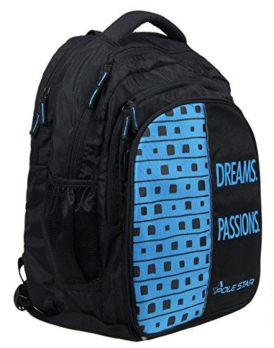 51T52DyhDGL - POLESTAR Big 4 Compartment 40 Lt Black Blue Laptop/Casual/Travel Backpack School Bag
