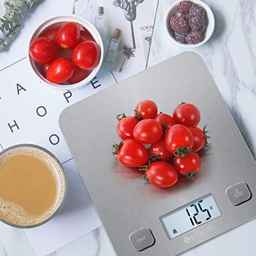 Etekcity Food Kitchen Scale, Digital Grams and Oz for Cooking, Baking, and Weight Loss, Christmas Gift for Holiday Meal Prep, Large, Stainless Steel 8