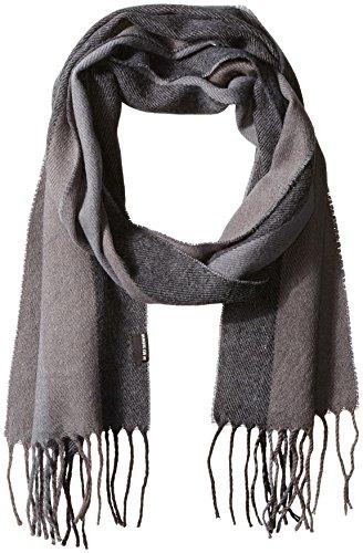 51TFMHeMRtL Striped acrylic scarf Self fringe and striped pattern