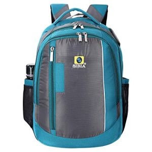SIBIA Polyester Trendy Laptop Backpack for Men and Women with Spacious Compartment/Stylish Backpack for College Students/Office use (Light Blue)[(CB4-00004GR-PC)]