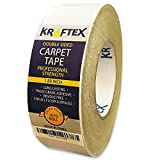 Carpet Tape 90ft Roll, for Rugs, Mats, Pads, Runners [Anti Slip Non Skid Technology] Indoor Gripper...