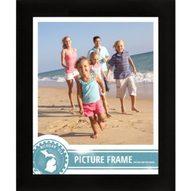 Craig-Frames-1WB3BK-16-by-24-Inch-Picture-Frame-Smooth-Wrap-Finish-1-Inch-Wide-Black