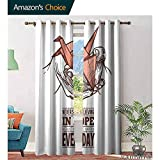 Big datastore Hope Bedroom CurtainHands Holding an Origami Crane with a Miracles Happen Everyday Quote Kids Youth Room Window Drapes W96 x L96 Pale Orange Brown White