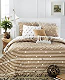 Martha Stewart Collection Whim Straight Arrow Full/queen Quilt Bedding Tan Stripe