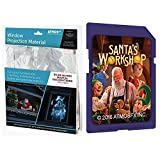 AtmosFEARfx Christmas Digital Decorations Kit includes AtmosFX 4 ft x 6 ft Projection Screen + AtmosCHEERfx Christmas Video (Santa's Workshop SD Card)