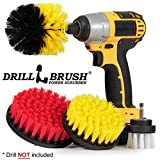 Drillbrush Drill Brush Scrub Brush Drill Attachment Kit - Drill Powered Cleaning Brush Attachments - Time Saving Cleaning Kit - Our Drill Brush Attachment kit is Great for Cleaning Tile and Grout