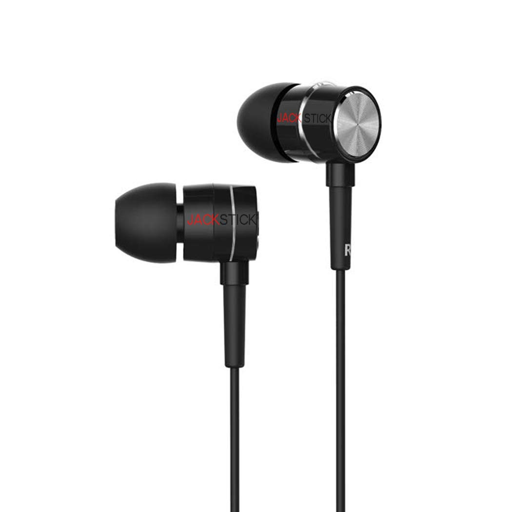 Alakazam Super Bass, Wired Earphones with Immersive Audio, Multi-Function Button, in-line Microphone for All Mobile (Black)