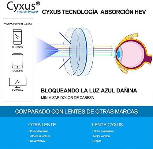 51TS9ujIhKL. AC  - Cyxus Filtro de Luz Azul Gafas de Computadora Anti Fatiga de Ojos Lentes Transparentes para Hombres y Mujeres Bloqueo UV #Amazon