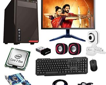 Rolltop® Assembled Desktop Computer, Intel Core 2 Duo 3.0 GHZ Processor, G 31 Motherboard, 17 Inch LED, 4 GB RAM, Windows 7 & Office Trial Version with Web Camera Mic Speaker (250)