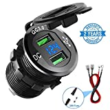 Quick Charge 3.0 Car Charger, CHGeek 12V/24V 36W Aluminum Waterproof...