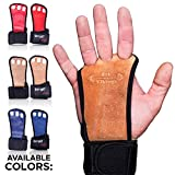 Fit Vikings Workout Gloves with Wrist Wraps - Hand Grips for Palm Protection - for Crossfit, Fitness, Gym Workout, Weight Lifting, Powerlifting, Gymnastics - for Men & Women - Premium Quality