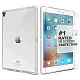 iPad Pro Case, 9.7' (Clear) SaharaCase Protective Kit [Case + Tempered Glass Screen Protector] Shock-Absorption Bumper [Built-in Camera Hood] Scratch-Resistant Hard Back (Clear)
