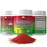 Organic Reds Superfood Powder. Best Tasting Organic Red Juice Super Food with 25+ All Natural Ingredients and Polyphenols. Vital for Max Energy and Detox. Raspberry, Elderberry, Beetroot