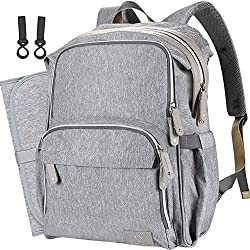 There are spacious pockets in this COTEY diaper bag and they make organizing baby stuff more easily. Moms can put all their baby essentials in it without struggling to fit everything into one pocket. Most diaper bag comes with two compartments but th...