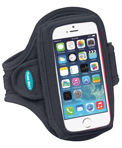 Armband Compatible With iPhone SE 5s 5 5c - Fits With a Slim Case - Water-Resistant [Black]