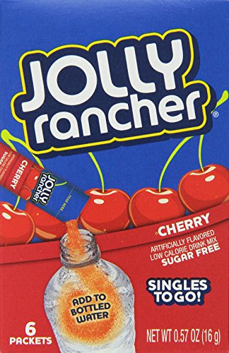Jolly Rancher Singles to Go Water Drink Mix, Cherry Flavored Powder Sticks, (12 Boxes with 6 Packets Each – 72 Total Servings)