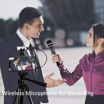 Hotec-25-Channel-UHF-Wireless-Microphone-Dual-Microphone-with-Mini-Portable-Receiver-14-Output-for-ChurchHomeKaraokeBusiness-Meeting-Dual-mic